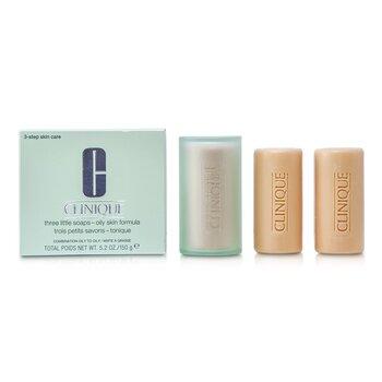 Clinique 3 Little Soap - Oily Skin Formula  3x50g