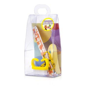 Tweezerman Children's Care Kit: Baby Nail Clipper+ Baby Nail File+ Nail Brush+ Baby Nail Scissors  4pcs