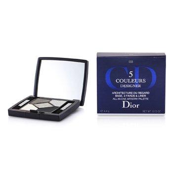 Christian Dior 5 Color Designer All In One Artistry Palette - No. 008 Smoky Design  4.4g/0.15oz