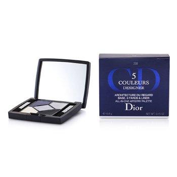 Christian Dior 5 Color Designer All In One Artistry Palette - No. 208 Navy Design  4.4g/0.15oz