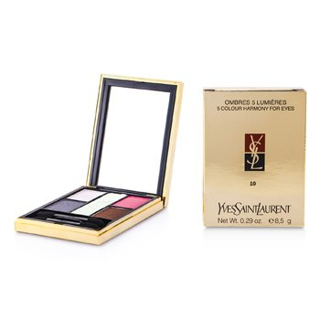 Yves Saint Laurent Ombres 5 Lumieres (5 Colour Harmony for Eyes) - No. 10 Riviera  8.5g/0.29oz