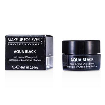 Make Up For Ever Aqua Black Waterproof Cream Eye Shadow - #1 (Black)  7g/0.24oz