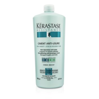 Kerastase Resistance Ciment Anti-Usure Strengthening Anti-Breakage Cream - Rinse Out (For Damaged Lengths & Ends)  1000ml/34oz