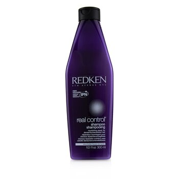 Redken Real Control Nourishing Repair Shampoo - For Dense/ Dry/ Sensitized Hair (Interlock Protein Network)  300ml/10oz