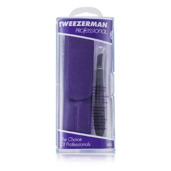 Tweezerman Professional V Cuticle Nipper for Trimming Cuticles & Hangnails - (With Lavender Pouch)  -