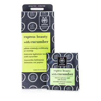 Apivita Express Beauty Intensive Hydration Mask with Cucumber  6x(2x8ml)