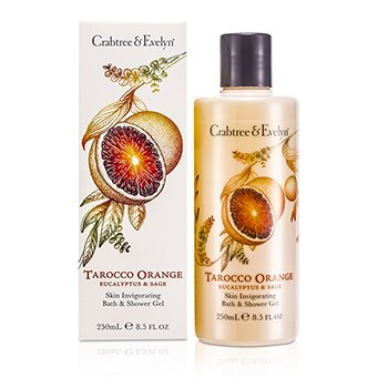 Crabtree & Evelyn Tarocco Orange, Eucalyptus & Sage Skin Invigorating Bath & Shower Gel  250ml/8.5oz