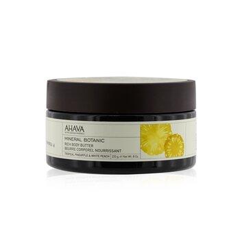 Ahava Mineral Botanic Velvet Body Butter - Tropical Pineapple & White Peach  235g/8oz