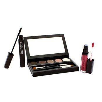 Laura Mercier Nude Smoky Eye Palette Collection (1xMascara, 1xLip Glace, 1xCake Eye Liner, 4xEye Colour, 3xBrush)  10pcs