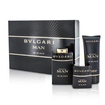 Bvlgari In Black Coffret: Eau De Parfum Spray 100ml/3.4oz + Eau De Parfum Spray 30ml/1oz + After Shave Balm 100ml/3.4oz  3pcs