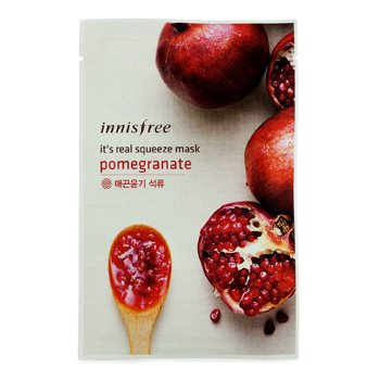 Innisfree It's Real Squeeze Mask - Pomegrante  10pcs