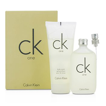 Calvin Klein CK One Coffret: Eau De Toilette Spray 50ml/1.7oz + Body Wash 100ml/3.4oz  2pcs