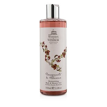 Woods Of Windsor Pomegranate & Hibiscus Moisturising Bath & Shower Gel  350ml/11.8oz