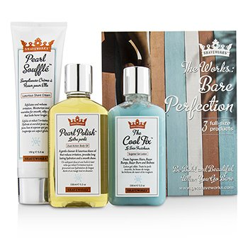 Anthony Shaveworks Bare Perfection Kit: Shave Cream 150g + Targeted Gel Lotion 156ml + Body Oil 156ml  3pcs