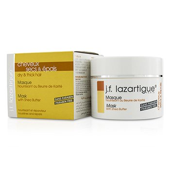 J. F. Lazartigue Mask with Shea Butter - Paraben Free (For Dry & Thick Hair)  250ml/8.4oz