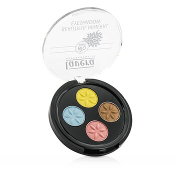 Lavera Beautiful Mineral Eyeshadow Quattro - # 05 Lunatic Summer Skies  4x0.8g/0.026oz