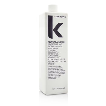 Kevin.Murphy Young.Again.Rinse (Immortelle and Baobab Infused Restorative Softening Conditioner - To Dry, Brittle or Damaged Hair)  1000ml/33.6oz