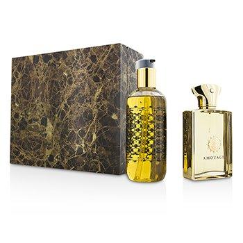 Amouage Gold Coffret: Eau De Parfum Spray 100ml/3.4oz + Bath & Shower Gel 300ml/10oz  2pcs