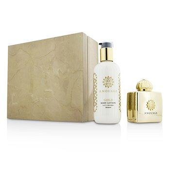 Amouage Gold Coffret: Eau De Parfum Spray 100ml/3.4oz + Body Lotion 300ml/10oz  2pcs