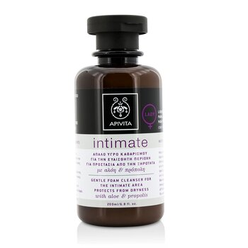 Apivita Intimate Gentle Foam Cleanser For The Intimate Area Protects From Dryness with Aloe & Propolis  200ml/6.8oz
