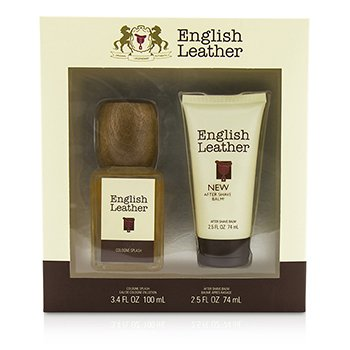 Dana English Leather Coffret: Cologne Splash 100ml/3.4oz + After Shave Balm 74ml/2.5oz  2pcs
