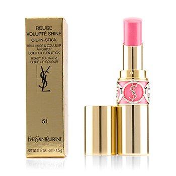 Yves Saint Laurent Rouge Volupte Shine Oil In Stick - # 51 Rose Saharienne  4.5g/0.15oz