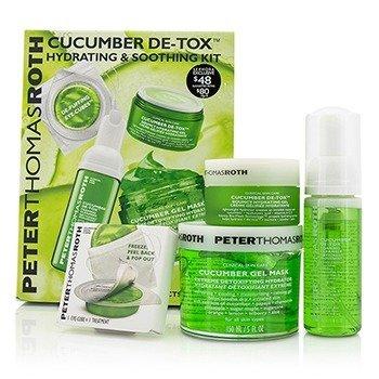 Peter Thomas Roth Cucumber Detox Kit: Gel Mask 150ml/5oz + Foaming Cleanser 30ml/1oz + Hydrating Gel 15ml/1oz + Eye-Cu  4pcs