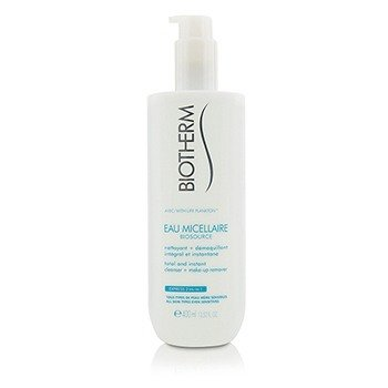 Biotherm Biosource Eau Micellaire Total & Instant Cleanser + Make-Up Remover - For All Skin Types  400ml/13.52oz
