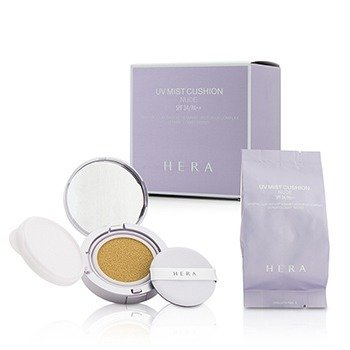 Hera UV Mist Cushion Nude Mineral Clay Water & Smart Vector UV Complex SPF34 With Extra Refill - # 23 Beige  2x15g/0.5oz