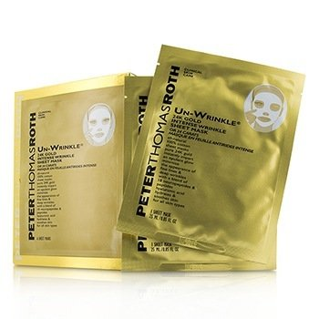 Peter Thomas Roth Un-Wrinkle 24K Gold Intense Wrinkle Sheet Mask  6x25ml/0.85oz