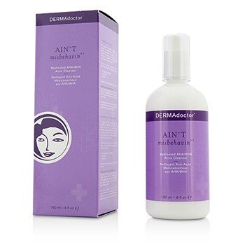 DERMAdoctor Ain't Misbehavin' Medicated AHA/BHA Acne Cleanser - For Oily, Blemish-Prone or Combination Skin  180ml/6oz