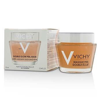 Vichy Double Glow Peel Mask w/ Volcanic Rock & AHA  75ml/2.54oz