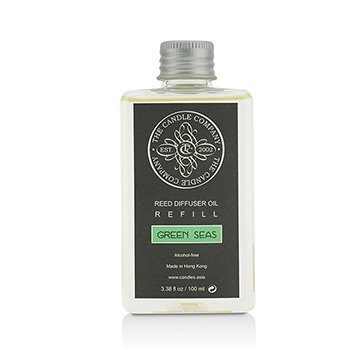 The Candle Company Reed Diffuser with Essential Oils Refill - Green Seas  100ml/3.38oz