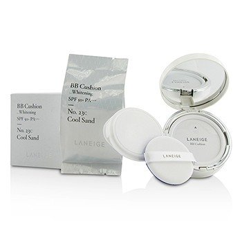 Laneige BB Cushion Foundation (Whitening) SPF 50 With Extra Refill - # No. 23C Cool Sand  2x15g/0.5oz