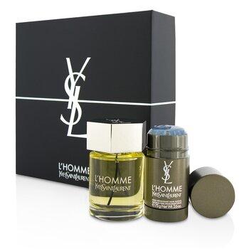 Yves Saint Laurent L'Homme Coffret: Eau De Toilette Spray 100ml/3.3oz + Deodorant Stick 75g/2.6oz  2pcs