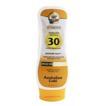 Australian Gold Lotion Sunscreen Moisture Max Broad Spectrum SPF 30  237ml/8oz