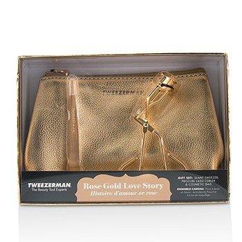 Tweezerman Rose Gold Love Story Gift Set  2pcs+1bag
