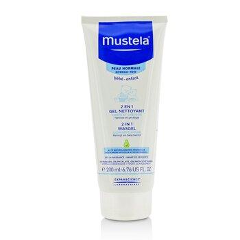 Mustela 2 In 1 Body & Hair Cleansing gel - For Normal Skin  200ml/6.76oz