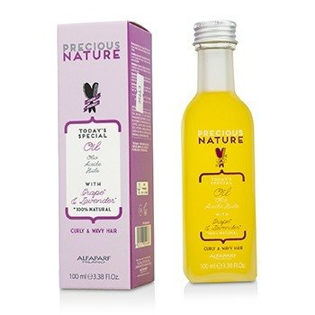 AlfaParf Precious Nature Today's Special Oil with Grape & Lavender (For Curly & Wavy Hair)  100ml/3.38oz