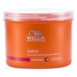 Wella Enrich Moisturizing Treatment For Dry & Damaged Hair (Fine/Normal)  500ml/16.7oz