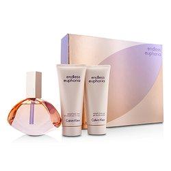 Calvin Klein Endless Euphoria Coffret: Eau De Parfum Spray 125ml/4oz + Body Lotion 100ml/3.4oz + Shower Gel 100ml/3.4oz  3pcs