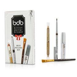 Billion Dollar Brows Best Sellers Kit: 1x Universal Brow Pencil 0.27g/0.009oz, 1x Brow Duo Pencil 2.98g/0.1oz, 1x Smudge Brush, 1x Brow Gel 3ml/0.1oz  4pcs