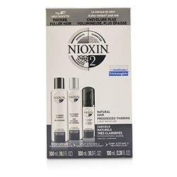 Nioxin 3D Care System Kit 2 - For Natural Hair, Progressed Thinning, Light Moisture  3pcs
