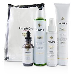 Philip B Four Step Hair & Scalp Treatment Set - # Paraben-Free Formula (All Hair Types)  4pcs