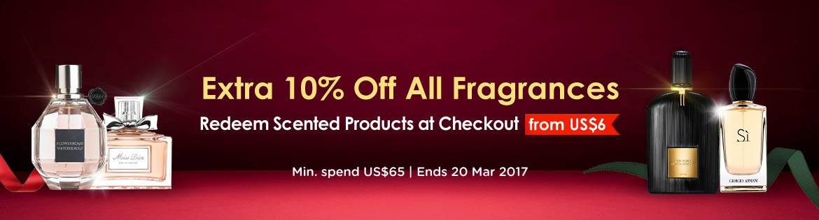 Extra 10% Off Fragrance banner