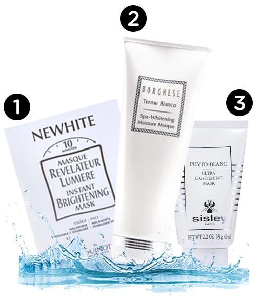 Get tan get white - whitening masks