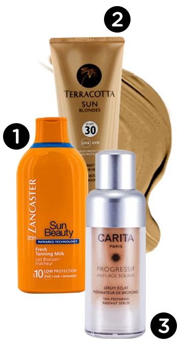 Get tan get white - tanning products