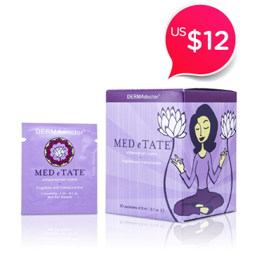 MED e TATE Antiperspirant Wipes<br />- 30 Packettes