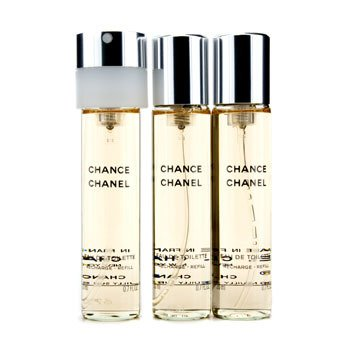 Chanel Chance Twist & Semprot Eau De Toilette Isi Ulang  3x20ml/0.7oz