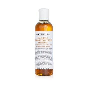 Kiehl's Calendula Herbal Extract Penyegar Bebas Alkohol ( Kulit Normal ke Berminyak )  250ml/8.4oz